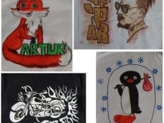 Maľovanie na textil - foto postup