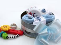 Inšpirácia na darčekové balenie výbavičky pre bábätko - foto postup
