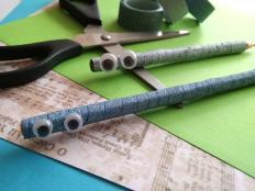 Zachránené ceruzky - foto postup