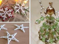 Vianočné ozdoby z korálok - postupy, inšpirácie - foto postup