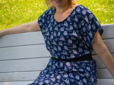 Jednoduché letné maxi šaty bez strihu - foto postup