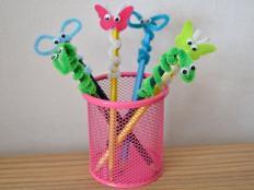 Veselé ceruzky - spríjemnite deťom začiatok školského roka - foto postup
