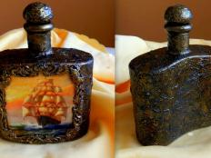 Dekoračná fľaša -  technika antique - foto postup