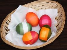 Fotopostup na jednoduché farebné vajíčka - foto postup
