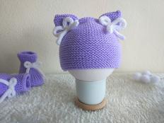 Návod na detskú čiapku z pleteného obdĺžnika - foto postup
