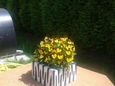 Maľované kvetináče - foto postup