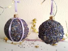 Ako vyrobiť levanduľové vianočné gule - foto postup