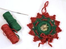 Postup na háčkovaný vianočný venček - foto postup