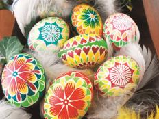 Batikované veľkonočné vajíčka  - foto postup