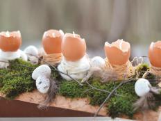 Ako vyrobiť sviečku z vosku a vajíčok na Veľkú noc - foto postup