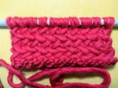 Pletenie - vzor rybia kosť - návod - foto postup