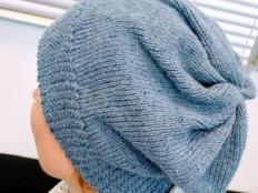 Pletená čiapka s patentom rybia kosť - foto postup