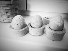 Veľkonočné vajíčka z omietky (sádry, betónu...) - foto postup