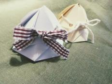 Malá papierová škatuľka na drobné darčeky - foto postup