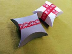 Jednoduchá papierová škatuľka odmeraná pomocou CD - foto postup