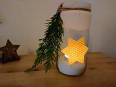 Vianočný svietnik  - foto postup