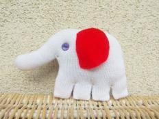 Slon - hračka zo starej rukavice - foto postup