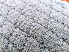 Pletený kosoštvorcový vzor - foto postup