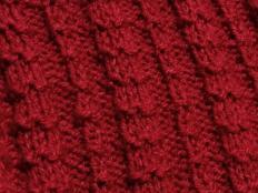 Pletený pásikavý vzor - návod - foto postup