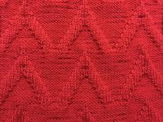 Návod na pletený vzor - striešky - foto postup