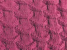Pletený vzor vlnky - návod - foto postup