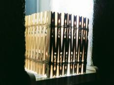 Tienidlo z drevených štipcov - foto postup