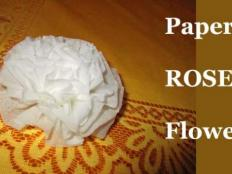 Papierová ruža - foto postup