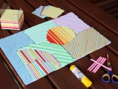 Fotopostup na obrázok z papierových ruličiek - foto postup