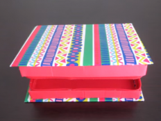 Papierová škatuľka so zipsom - video - foto postup