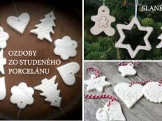 Vianočné ozdoby z doma vyrobeného studeného porcelánu a slaného cesta - foto postup