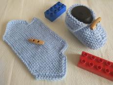 Pletené papučky pre bábätko - foto postup