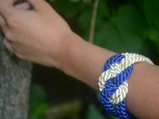 Postup na náramok z textilnej šnúry   - foto postup