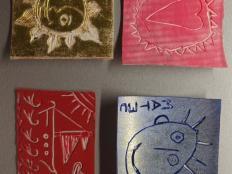 Linorezba a tlač na textil  - foto postup