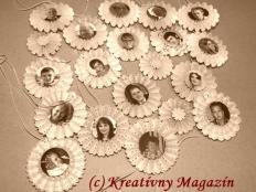 Vintage vianočné ozdoby z papiera - foto postup