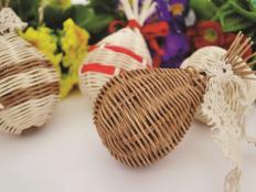 Veľkonočné vajíčko pletené z pedigu - foto postup