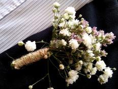 Svadobné pierko z gypsomilky - foto postup