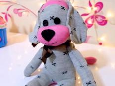 Video - ako ušiť psíka z ponožky - foto postup