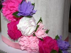 Fotopostup na ružu z krepového papiera - foto postup