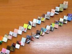 Fotopostup na skladanie dielikov na papierové kabelky - foto postup