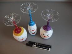 Snehuliakové svietniky - foto postup