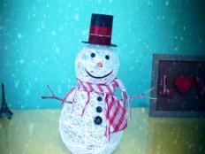 Postup na snehuliaka motaného zo špagátu - foto postup