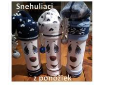 Vianoční snehuliaci s ponožkami - foto postup