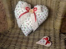Srdce plnené levandulou - foto postup