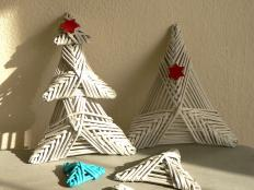 Fotopostup na papierové pletenie - pletený stromček II. - foto postup