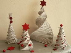 Fotopostup na papierové pletenie - pletený stromček III. - foto postup