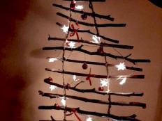 Vianočný stromček z konárikov - foto postup