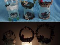 Lampášiky zo sveta fantázie - foto postup
