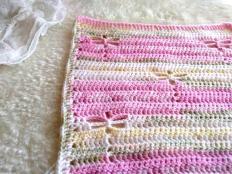 Ako háčkovať deku - vzor vážka - foto postup