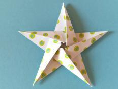 Vianočná origami hviezda - videopostup - foto postup