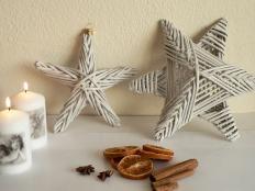 Fotopostup na papierové pletenie - pletená päť a šesťramenná hviezda - foto postup